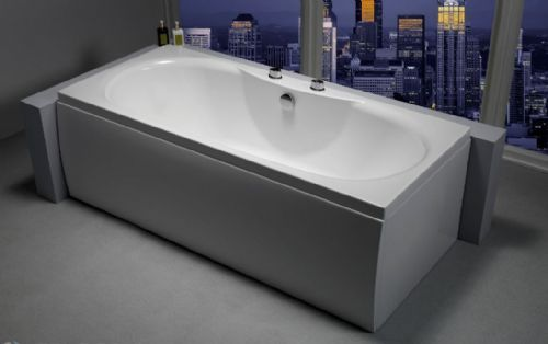 Carron Equation 1700 x 750mm Double Ended Bath Carronite